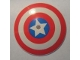 Part No: 98606pb001  Name: Dish 9 x 9 Inverted (Radar) with Captain America Star Triple Blast Shield Pattern