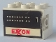 Part No: BA001pb02  Name: Stickered Assembly 3 x 2 x 1 2/3 with Exxon Tank Number 1 on Both Sides Pattern (Stickers) - Set 6375-2