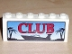 Part No: BA003pb01  Name: Stickered Assembly 6 x 1 x 2 with 'CLUB' Boat Logo Pattern (Sticker) - Set 6543 - 2 Brick 1 x 6