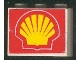 Part No: BA005pb03  Name: Stickered Assembly 3 x 1 x 2 with Shell Logo Pattern on Both Sides (Stickers) - Set 6378 - 2 Bricks 1 x 3