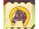 Part No: BA006pb02  Name: Stickered Assembly 4 x 1 x 3 with Horse Head and Horseshoe Pattern (Sticker) - Set 6379 - 3 Bricks 1 x 4