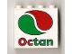 Part No: BA006pb07  Name: Stickered Assembly 4 x 1 x 3 with Octan Logo Pattern (Sticker) - Set 6562 - 3 Bricks 1 x 4
