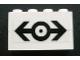 Part No: BA008pb08  Name: Stickered Assembly 4 x 1 x 2 with Train Logo Black Pattern (Sticker) - Set 4555 - 2 Brick 1 x 4