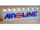 Part No: BA009pb02  Name: Stickered Assembly 8 x 1 x 2 with Air Line with Red Globe Logo Pattern (Sticker) - Set 6597 - 2 Bricks 1 x 8