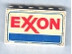Part No: BA012pb08  Name: Stickered Assembly 6 x 1 x 3 with 'EXXON' Pattern on Both Sides (Stickers) - Set 6375-2 - 3 Brick 1 x 6