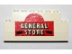 Part No: BA026pb01  Name: Stickered Assembly 8 x 1 x 3 with 'GENERAL STORE' Pattern (Sticker) - Set 365 - 2 Brick 1 x 8, 1 Brick 1 x 6