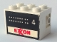 Part No: BA082pb03  Name: Stickered Assembly 3 x 2 x 1 2/3 with Exxon Tank Number 4 on Both Sides Pattern (Stickers) - Set 6375-2
