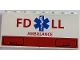 Part No: BA099pb01  Name: Stickered Assembly 8 x 1 x 3 with Red 'FD LL', 'AMBULANCE' and Blue EMT Star of Life Pattern (Sticker) - Set 4857 - 2 Panels 1 x 4 x 3 - Hollow Studs