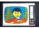 Part No: BA110pb01  Name: Stickered Assembly 2 x 4 x 2 1/3 with Male Reporter/Singer Pattern (Sticker) -  Set 278 - 2 Bricks 2 x 4, 2 Tiles 2 x 2