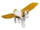 Part No: Pegasus01  Name: Pegasus, Elves with Medium Lavender Eyes and Gold Mane and Tail Pattern (Golden Glow)