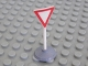 Part No: bb0134pb01c01  Name: Road Sign Old Triangle Inverted with Yield Pattern & Type 1 Base