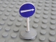 Part No: bb0140pb04c01  Name: Road Sign Old Round with White Arrow Right Pattern & Type 1 Base