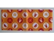 Part No: blankie04pb01  Name: Duplo Cloth Blanket 5 x 12 with Orange and Red Picnic Pattern
