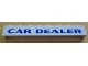 Part No: crssprt01pb56  Name: Brick 1 x 8 without Bottom Tubes with Cross Side Supports with Blue 'CAR DEALER' Pattern
