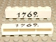 Part No: crssprt02pb12  Name: Brick 1 x 6 without Bottom Tubes with Cross Side Supports with Black '1762' Pattern