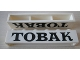 Part No: crssprt02pb41a  Name: Brick 1 x 6 without Bottom Tubes with Cross Side Supports with Black 'TOBAK' Serif Pattern