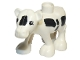 Part No: dupcalf1c01pb02  Name: Duplo Cow Baby (Calf) Front Leg Forward with Black Spots, Eyes Top Straight Pattern