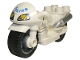 Part No: dupmc3pb01  Name: Duplo Motorcycle with Rubber Wheels and Headlights and Blue 'POLICE' Pattern