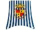 Part No: sailbb02  Name: Cloth Sail Main with Blue Stripes and Crown Shield Pattern