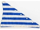 Part No: sailbb03  Name: Cloth Sail Triangular 14 x 22 with Blue Thin Stripes Pattern