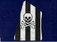 Part No: sailbb16  Name: Cloth Sail 2 with Black Stripes, Skull and Crossbones Pattern