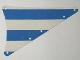 Part No: sailbb20  Name: Cloth Sail Triangular 15 x 22 with Blue Thick Stripes Pattern