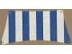 Part No: sailbb21  Name: Cloth Sail 30 x 15 Bottom with Blue Thick Stripes Pattern