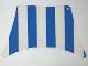 Part No: sailbb22  Name: Cloth Sail 27 x 17 Top with Blue Thick Stripes Pattern