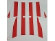Part No: sailbb75c01  Name: Cloth Sail Assembly with Red Thick Stripes Pattern
