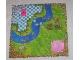 Part No: x1438px1  Name: Belville Cloth Playmat 49cm x 49cm with Stream Pattern (#5834)