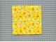 Part No: x883cx1  Name: Scala Cloth Blanket 14 x 14 with Starburst on Yellow Pattern