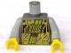 Part No: 973pb0088c01  Name: Torso Space RoboForce Gold Circuitry Pattern / Light Gray Arms / Yellow Hands
