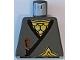 Part No: 973pb0240  Name: Torso Castle Ninja Wrap, Brown Dagger, Gold Star, Gold Scale Mail Pattern