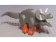Part No: Tricera03  Name: Dinosaur, Triceratops with Dark Orange Legs and White Horns