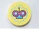 Part No: 14769pb350  Name: Tile, Round 2 x 2 with Bottom Stud Holder with Dark Pink and Medium Azure Circuit Pattern (Sticker) - Set 41329