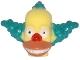 Part No: 15662pb01  Name: Minifigure, Head Modified Simpsons Krusty the Clown