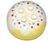 Part No: 98220pb09  Name: Duplo, Brick Round 4 x 4 Dome Top with 2 x 2 Studs and Marbled White with Red, Medium Azure and Pink Stars Pattern