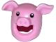 Part No: 17351pb01  Name: Minifigure, Headgear Mask Pig with Black Eyes Pattern