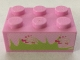 Part No: 3002pb35  Name: Brick 2 x 3 with Grass and Hearts Pattern (Sticker) - Set 7586