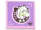 Part No: 3068bpb0784R  Name: Tile 2 x 2 with Groove with Horse Head Facing Right in Horseshoe Pattern (Sticker) - Set 3185