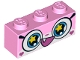 Part No: 3622pb077  Name: Brick 1 x 3 with Cat Face Wide Eyes with Yellow Stars and Smiling Open Mouth with One Tooth Pattern (Rainbow Unikitty)
