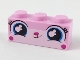 Part No: 3622pb101  Name: Brick 1 x 3 with Cat Face Wide Eyes, Small Lopsided Grin Pattern
