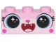 Part No: 3622pb116  Name: Brick 1 x 3 with Cat Face Open Mouth Smile Showing Tongue and Teeth Pattern (Disco Kitty)