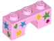 Part No: 4490pb08  Name: Brick, Arch 1 x 3 with Stars and Hearts Pattern
