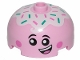 Part No: 49308pb001  Name: Brick, Round 3 x 3 x 1 1/3 Dome Top - Open Stud with Smile, Eyes with Pupils, Pink Cheeks and Topping Pattern