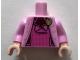 Part No: 973pb3356c01  Name: Torso Harry Potter Jacket over Dark Pink Vest with Gold Cat Brooch Pattern / Bright Pink Arms / Light Flesh Hands