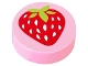 Part No: 98138pb015  Name: Tile, Round 1 x 1 with Strawberry Pattern