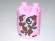 Part No: 98225pb002  Name: Duplo, Brick Round 2 x 2 x 2 with Red Roses, Vine and Stardust Pattern