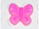 Part No: clikits100pb04  Name: Clikits Icon, Butterfly 2 x 2 with Pin, Dark Pink Body & Wings Pattern
