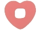 Part No: clikits046  Name: Clikits Icon Accent, Rubber Heart 2 5/8 x 2 5/8